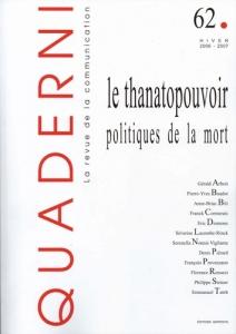 Emmanuel-Taieb-Thanatopouvoir-Quaderni-62